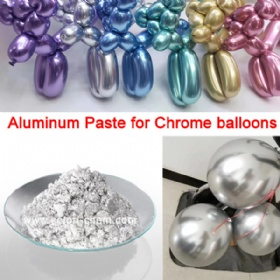 Aluminium paste specialized for making CHROME latex balloon as Qualatex
